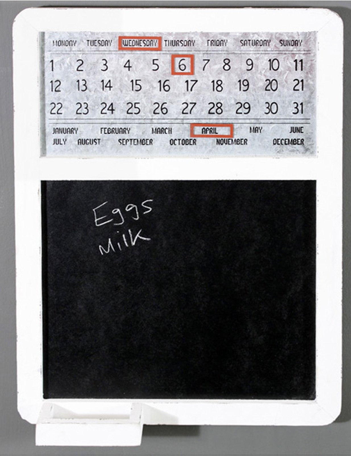 Blackboard Calendar White - Soap Scent & Home