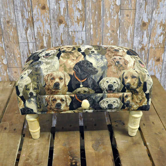 Dogs Footstool with Drawer - Soap Scent & Home