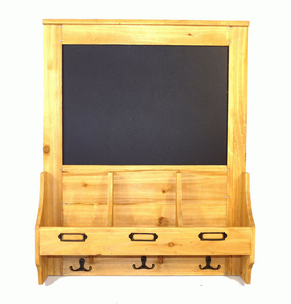 Chalkboard with hooks and Post Space 47 x 10 x 59cm - Soap Scent & Home