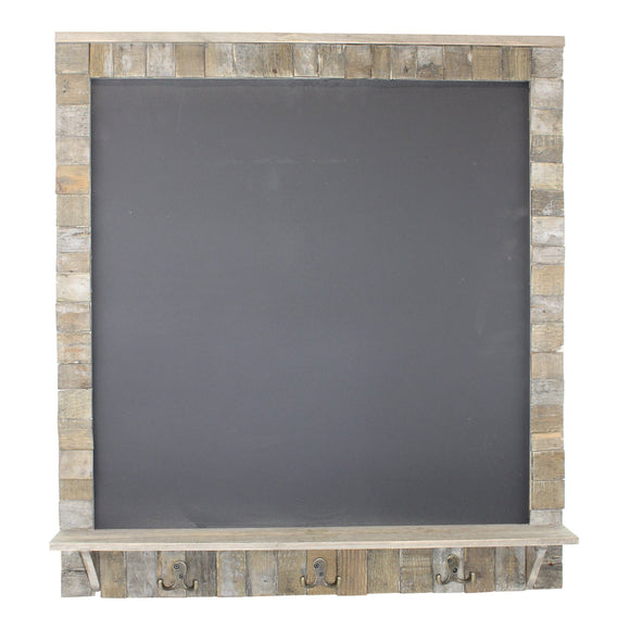 Large Blackboard with Driftwod Effect Surround, Shelf and 3 Double Hooks - Soap Scent & Home