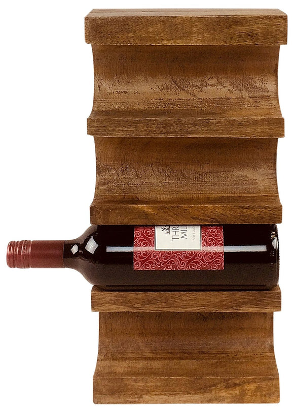 Wall Mounted Wooden Wine Rack - Soap Scent & Home
