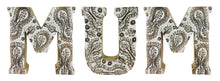 Load image into Gallery viewer, Hand Carved Wooden White Flower Letters - View For Various Words