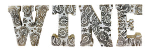 Hand Carved Wooden White Flower Letters - View For Various Words