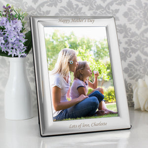 Personalised Silver Plated 5x7 Photo Frame - Soap Scent & Home