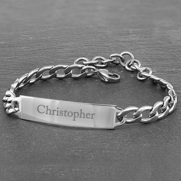 Personalised Stainless Steel Unisex Bracelet - Soap Scent & Home