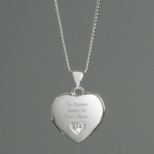 Personalised Children's Sterling Silver and Cubic Zirconia Heart Locket Necklace - Soap Scent & Home