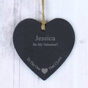 Personalised The One I Love Slate Heart Decoration - Soap Scent & Home
