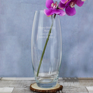 Personalised Tapered Bullet Vase - Soap Scent & Home