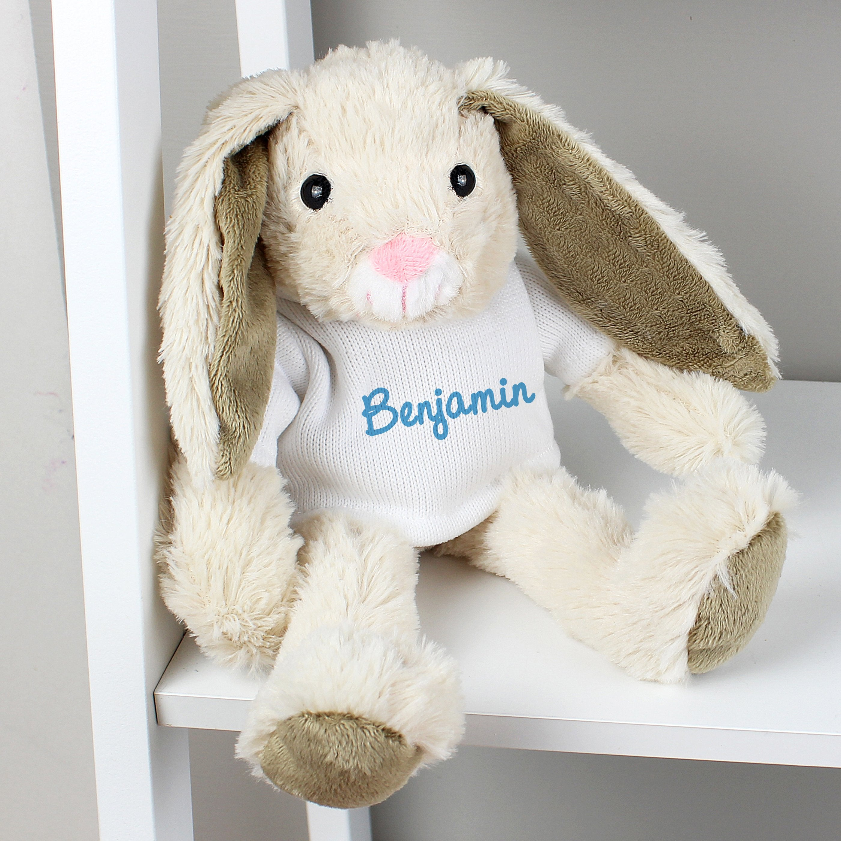 Personalised Name Only Bunny Rabbit - Blue - Soap Scent & Home