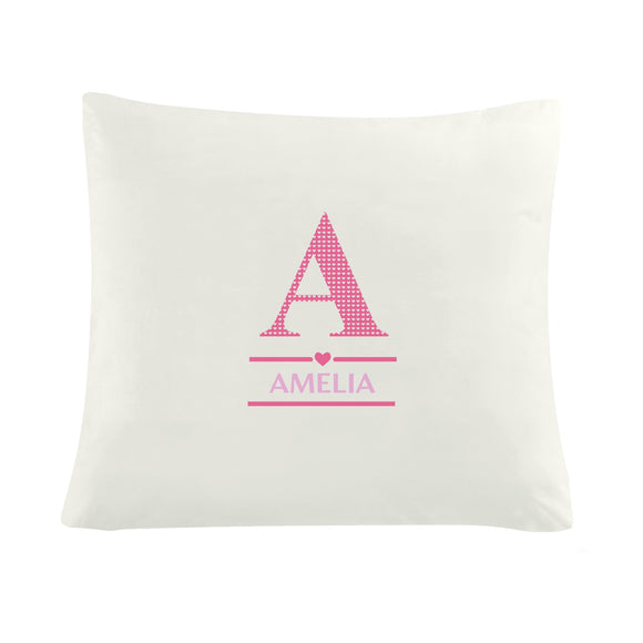 Personalised Girls Initial Cushion Cover - Soap Scent & Home