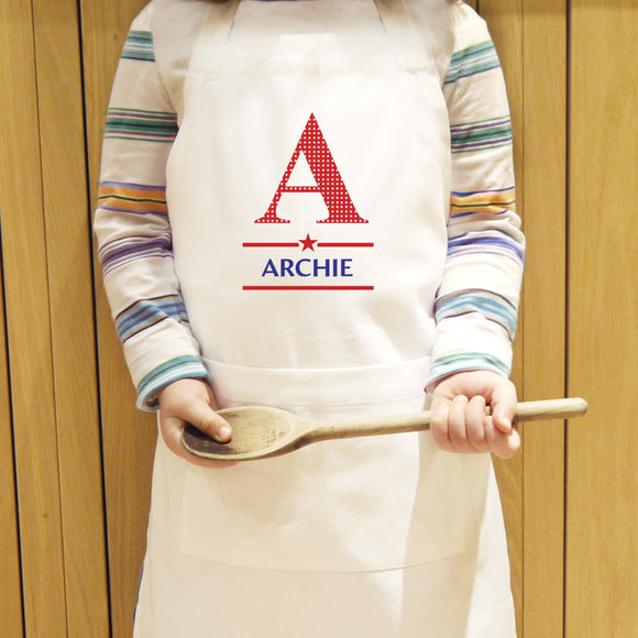 Personalised Boys Initial Children's Apron - Soap Scent & Home