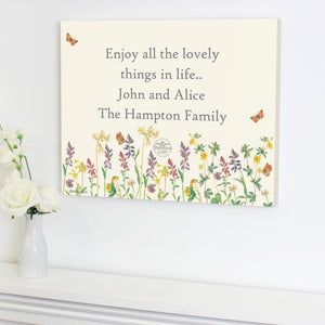 Personalised Country Diary Wild Flowers Canvas - Soap Scent & Home