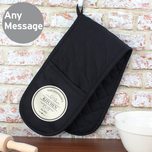 Personalised Decorative Oven Gloves - Soap Scent & Home