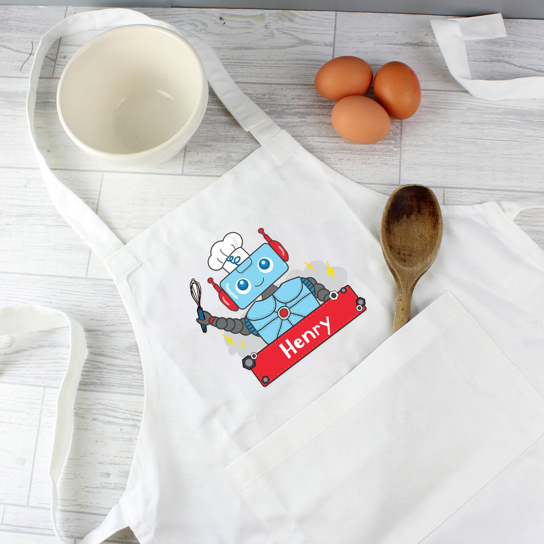 Personalised Robot Children's Apron