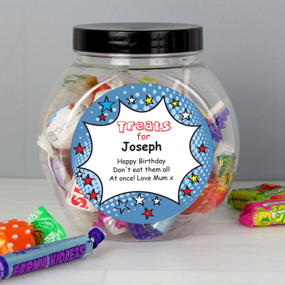 Personalised Comic Book Sweet Jar - Soap Scent & Home