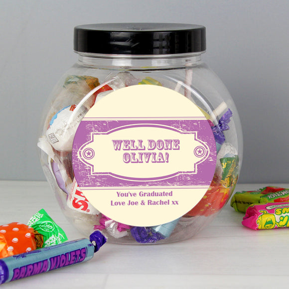 Personalised Vintage Purple Sweet Jar - Soap Scent & Home