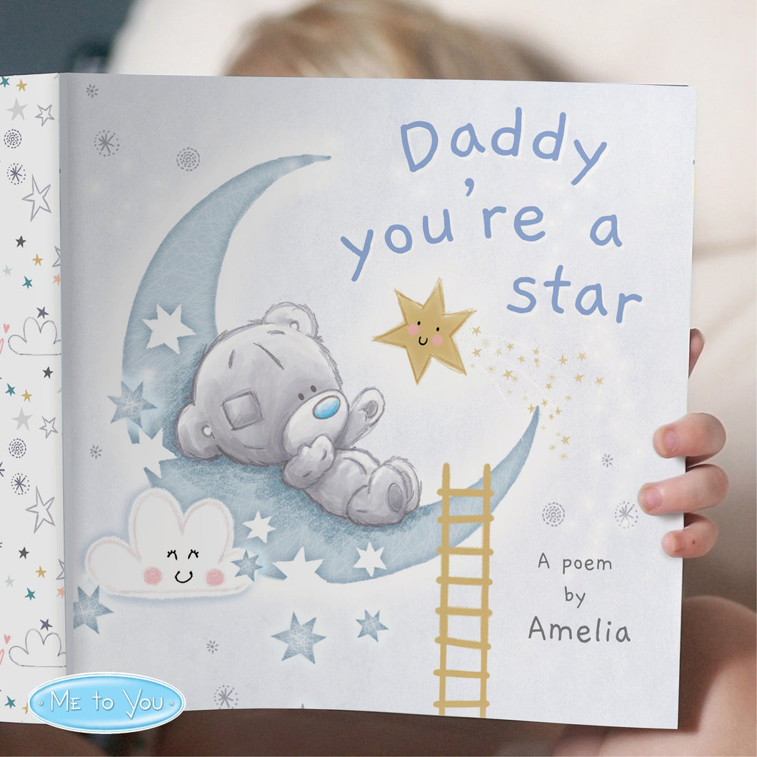 Personalised Tiny Tatty Teddy Daddy You're A Star Poem Book