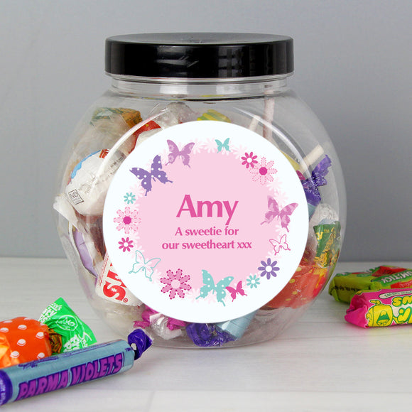 Personalised Butterfly Sweets Jar - Soap Scent & Home