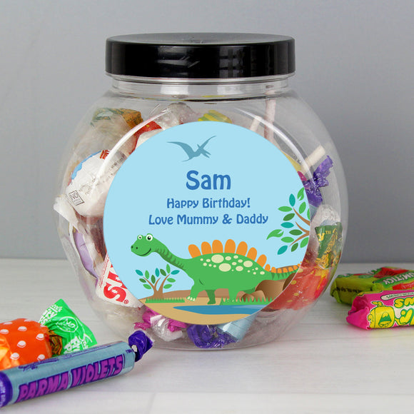 Personalised Dinosaur Sweets Jar - Soap Scent & Home
