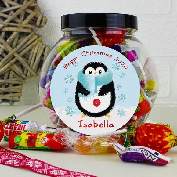 Personalised Felt Stitch Penguin Sweet Jar - Soap Scent & Home