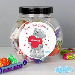 Personalised Me to You Big Heart Sweet Jar - Soap Scent & Home
