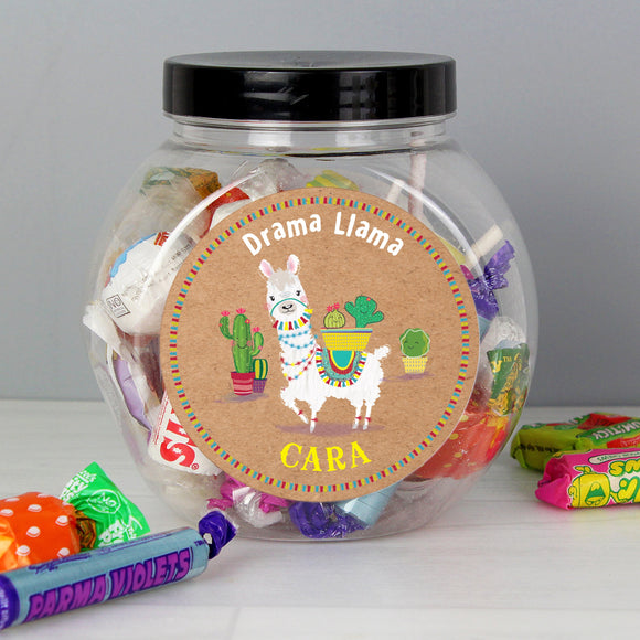 Personalised Llama Sweet Jar - Soap Scent & Home