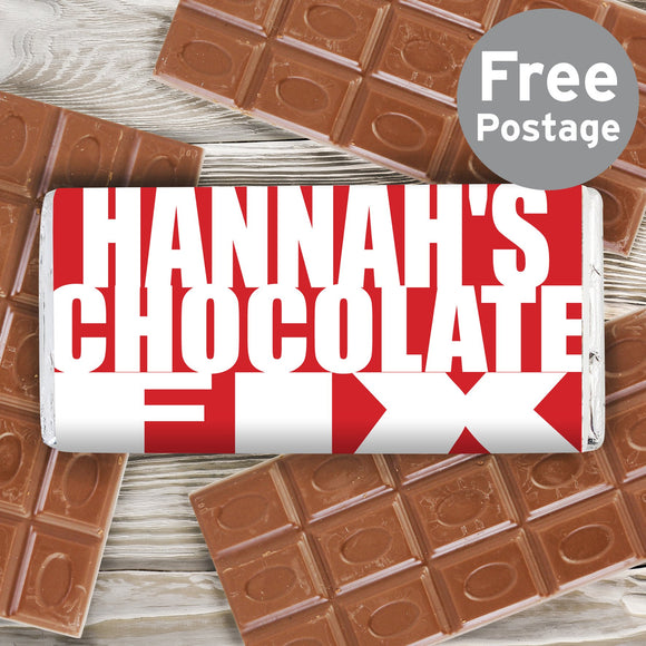 Personalised Chocolate Fix Milk Chocolate Bar - Soap Scent & Home