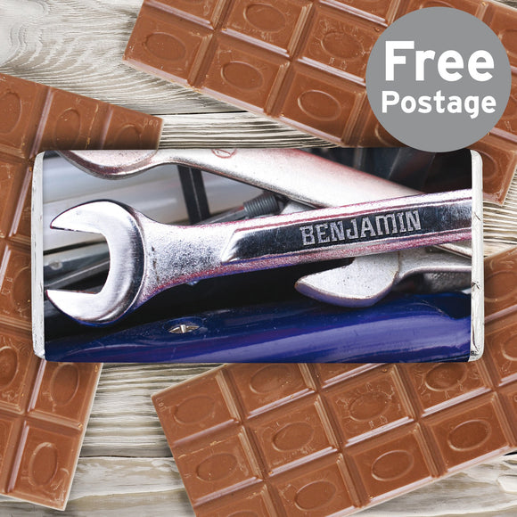 Personalised Tool Kit Milk Chocolate Bar - Soap Scent & Home
