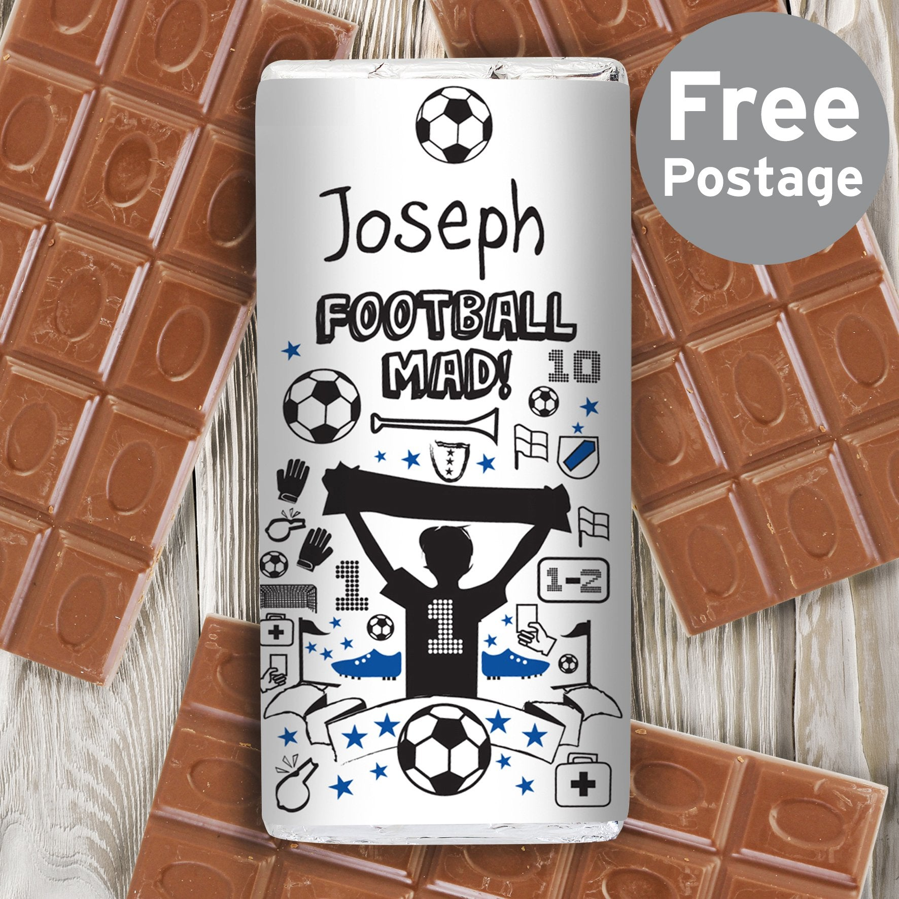 Personalised Football Milk Chocolate Bar - Soap Scent & Home