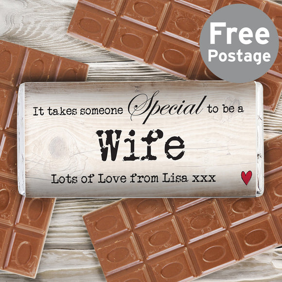 Personalised Someone Special Milk Chocolate Bar - Soap Scent & Home