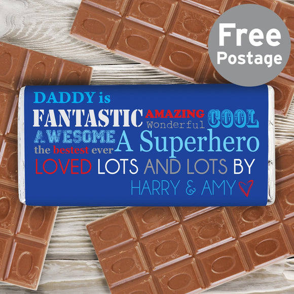 Personalised He Is Milk Chocolate Bar - Soap Scent & Home