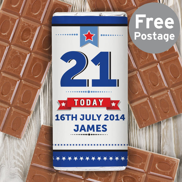 Personalised Birthday Star Milk Chocolate Bar - Soap Scent & Home
