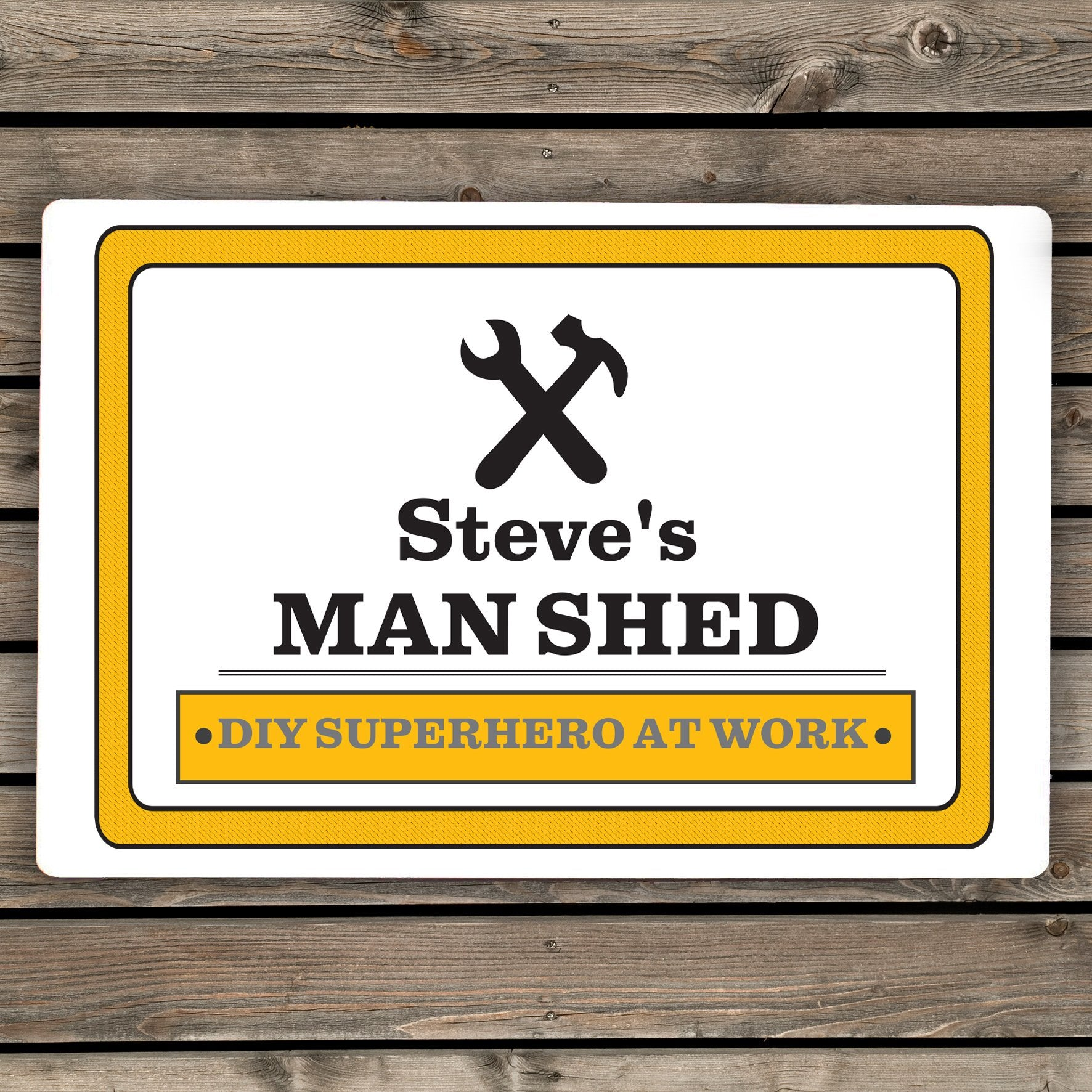 Personalised Man At Work Sign - Soap Scent & Home