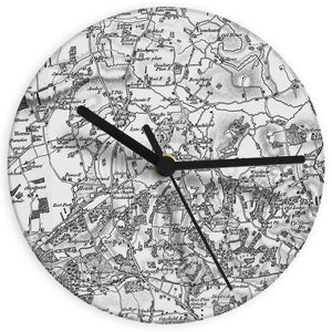 Personalised Old Series 1805 - 1874 Glass Map Clock - Soap Scent & Home