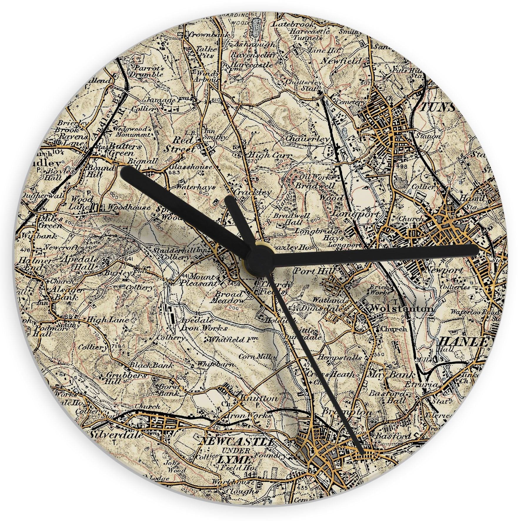 Personalised 1896 - 1904 Revised Glass Map Clock - Soap Scent & Home