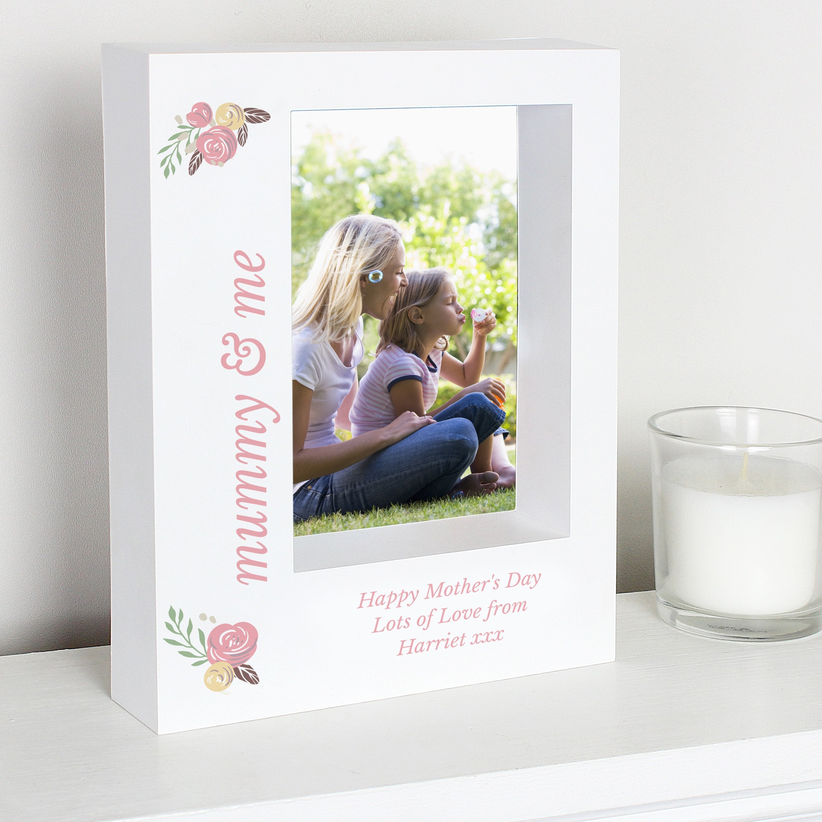 Personalised Floral 7x5 Box Photo Frame - Soap Scent & Home