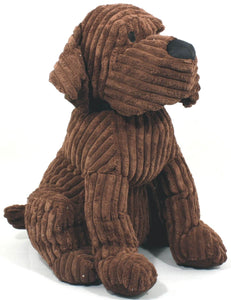 Large Chocolate Ribbed Dog Doorstop - Soap Scent & Home