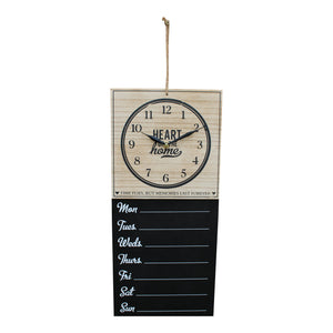 Wall Clock With Week Days Vintage Style Hanging Chalkboard