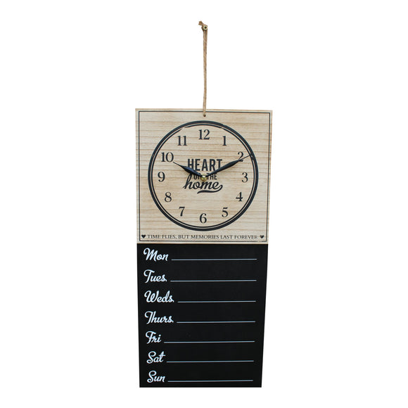 Wall Clock With Week Days Vintage Style Hanging Chalkboard - Soap Scent & Home