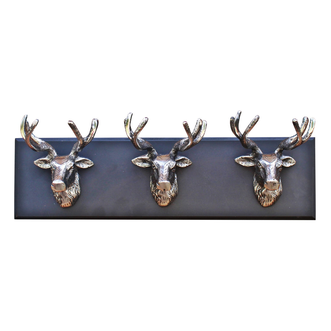 Wall Hanging Triple Stag Head Ornament