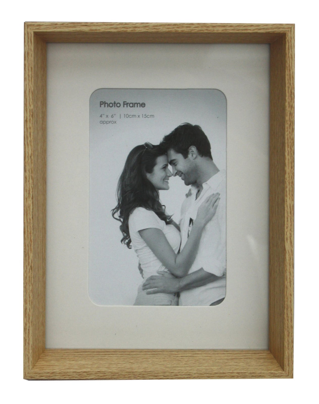 Natural Wood Box Style 4 X 6 Photo Frame