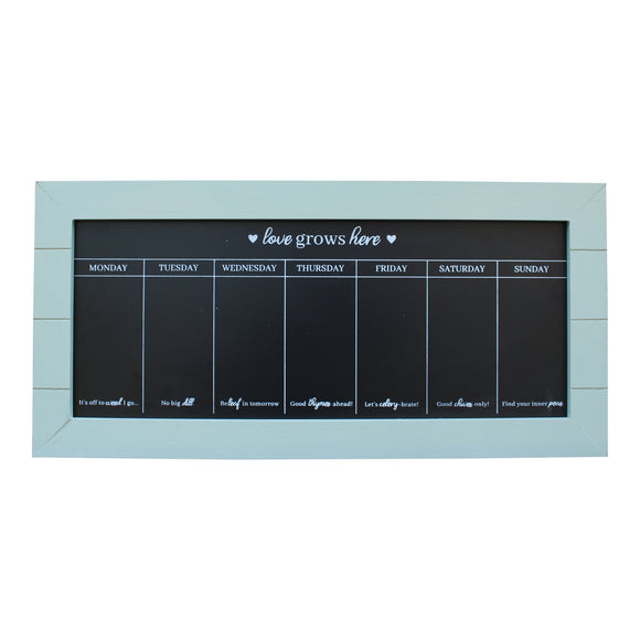 Chalkboard Week Planner - Various Colours - Soap Scent & Home