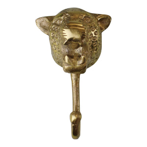 Gold Metal Leopard Wall Hook