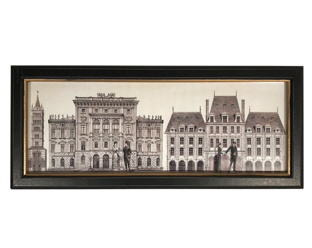 Black Framed Monochrome Architecture Print