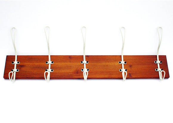 5 Hook Wooden Rack Cream - Soap Scent & Home