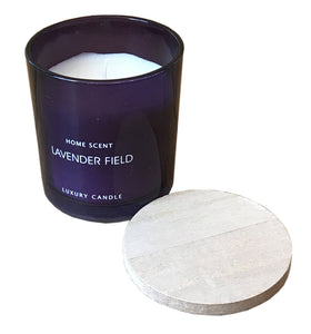 Glass Candle With Wooden Lid - Various Scents