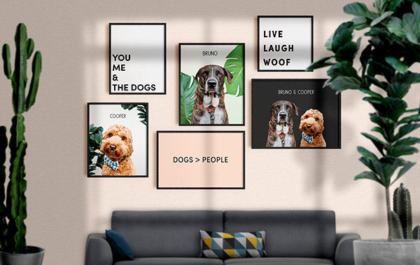 modern dog art quote collection banner