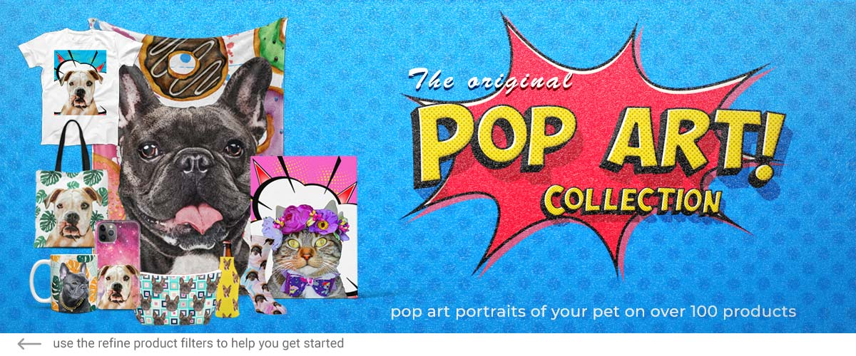 Collezione pop art originale per animali domestici BAnner