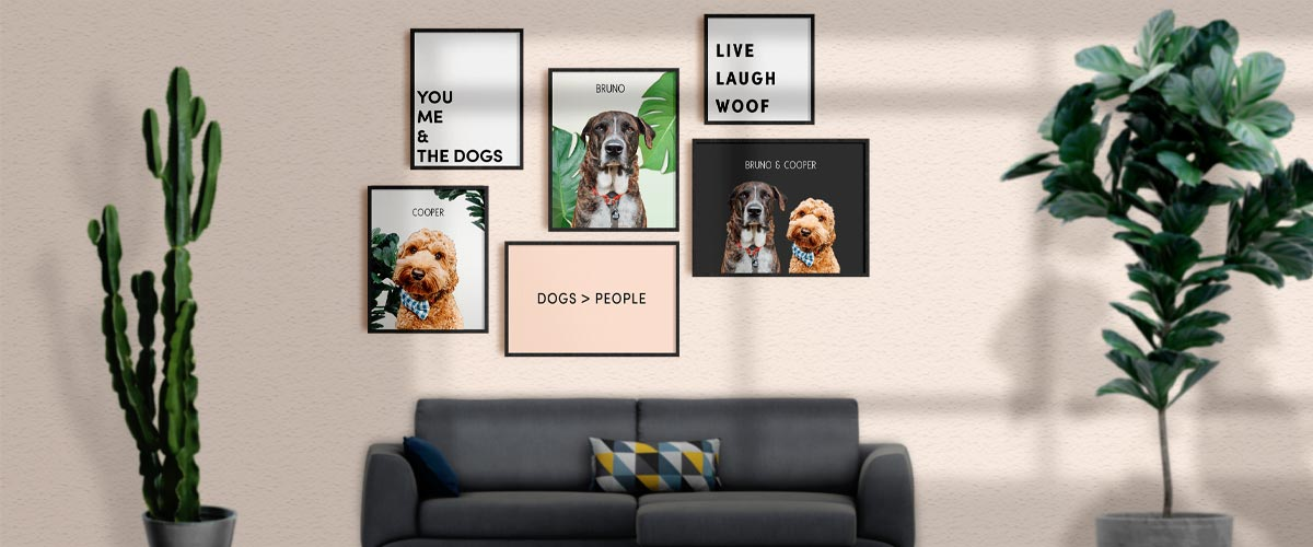 Pop Chic Modern Pet Art Gallery Sets - Banner Image