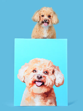 pet pop art canvas